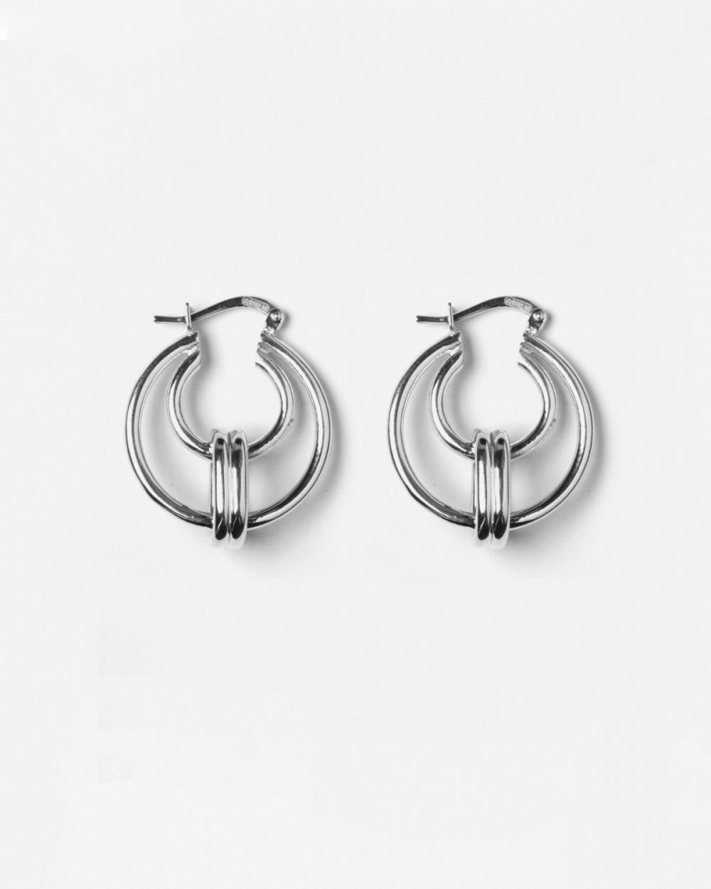 Earrings SILVER THETA EARRINGS NOVE25