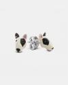 bull terrier couple earrings enamelled