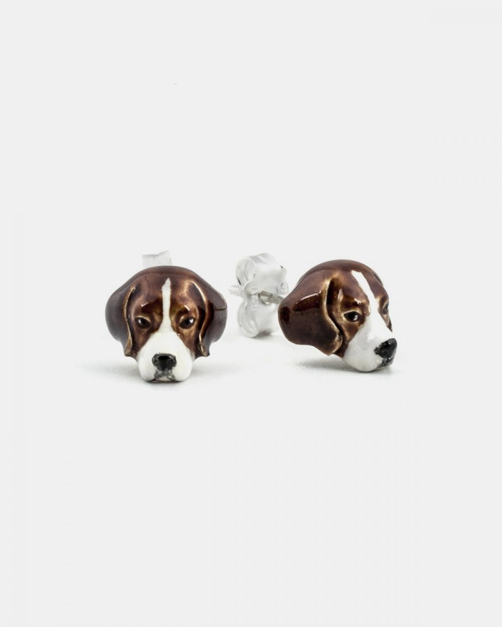 Earrings BEAGLE COUPLE EARRINGS / ENAMELLED NOVE25