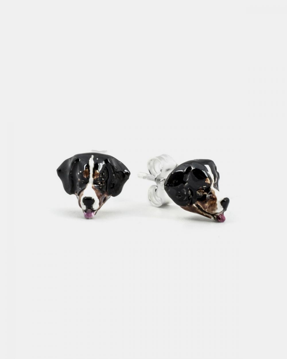 Earrings BERNESE MOUNTAIN DOG COUPLE EARRINGS / ENAMELLED NOVE25