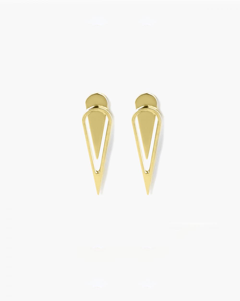 Earrings YELLOW GOLD DROP BIG EARRINGS NOVE25