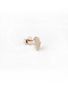 orecchino singolo lobo mano di fatima mini zirkonata oro rosa lucido