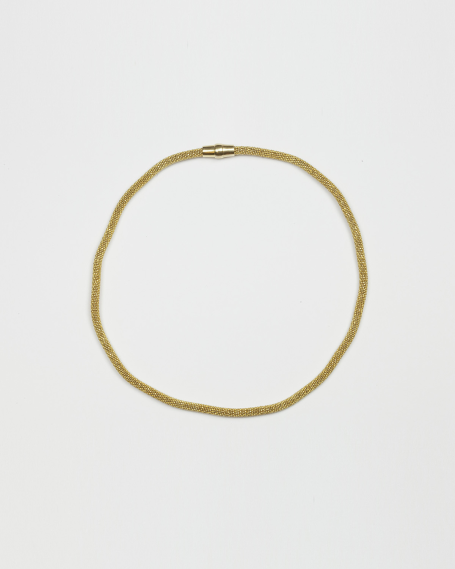 450 MAGNET NECKLACE / YELLOW GOLD FINISH