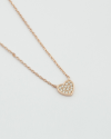 cubica zirconia heart necklace rose gold finish