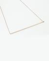 bar necklace rose gold inish