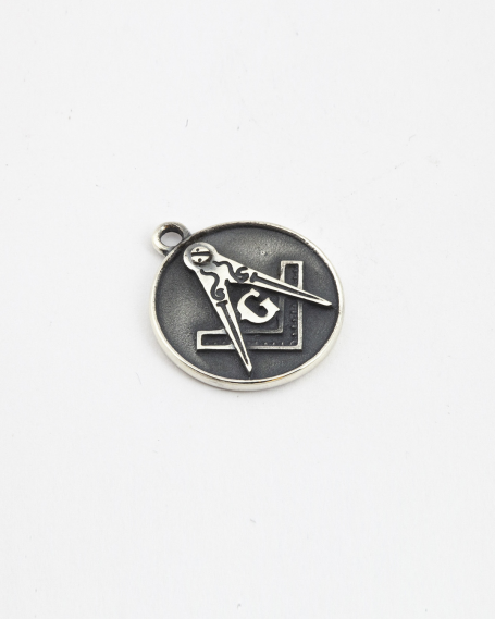 SQUARE AND COMPASS PENDANT