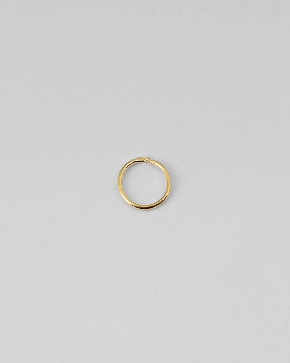 Earrings YELLOW GOLD MINI SINGLE HOOP EARRING 012 D10 NOVE25