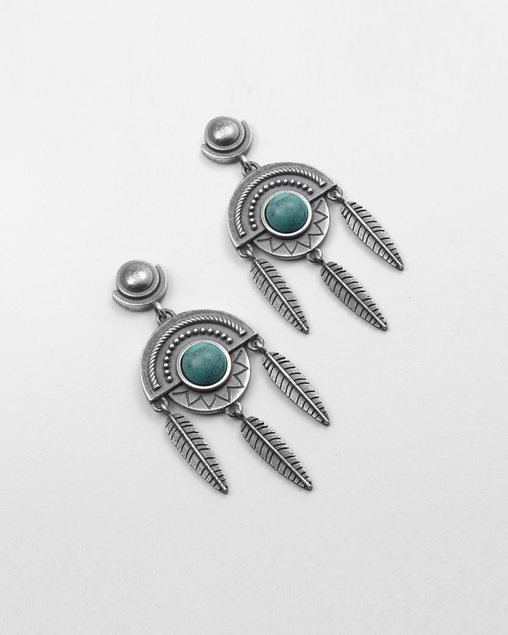 dreamacatcher turquoise pair earrings